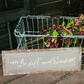 BE STILL AND KNOW WOOD PLAQUE