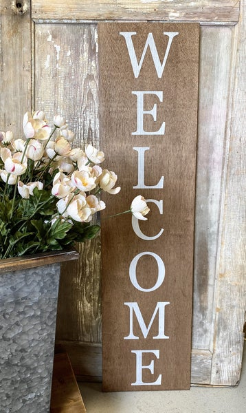 Welcome Wood Porch Sign