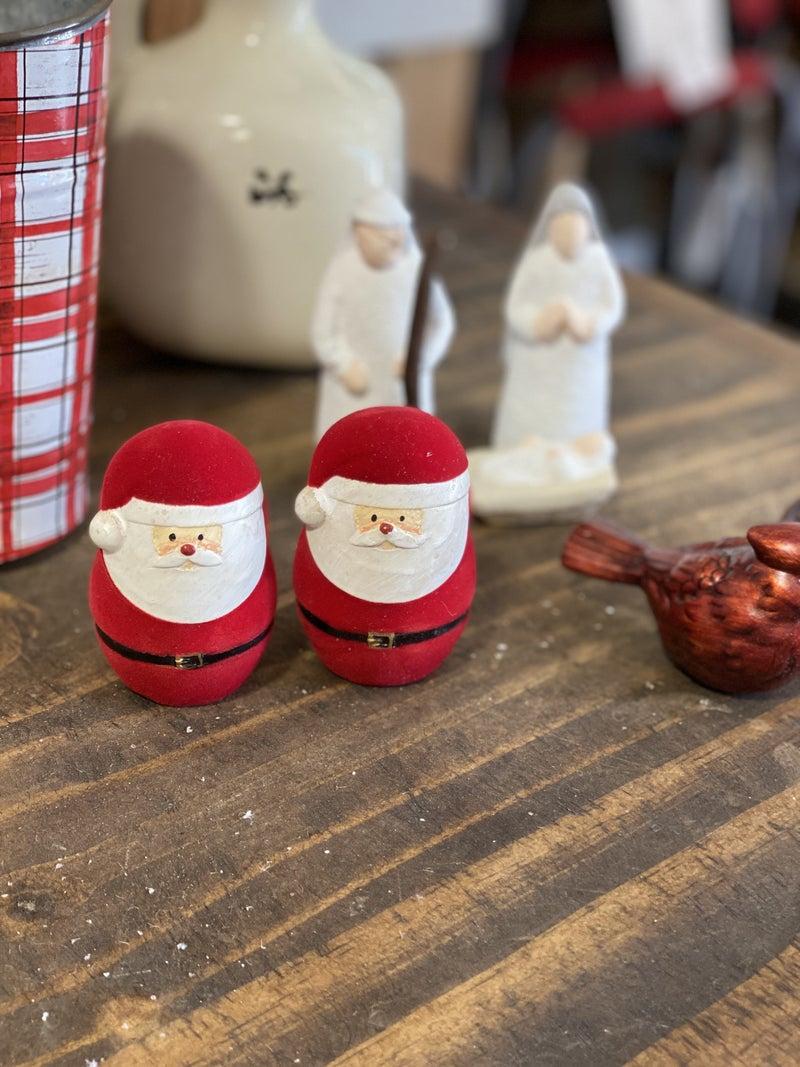 Flocked Santa