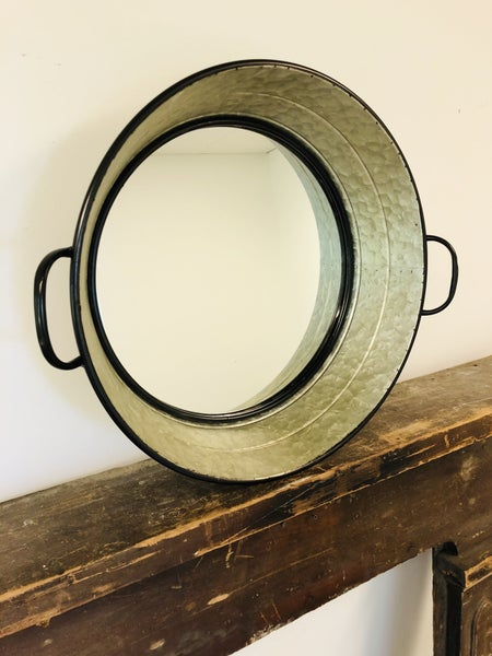 Round Mirror Tray with Handles