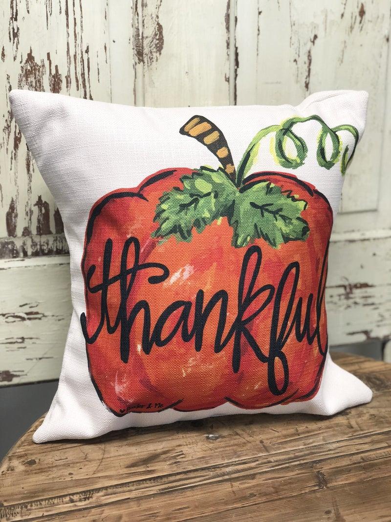 Thankful Pumpkin Pillow