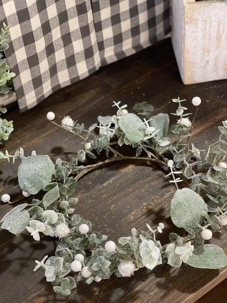"Eucalyptus Wreath w/Berries - 16"""