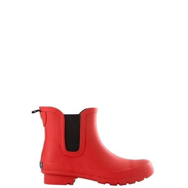 ROMA MATT RED WOMEN'S ANKLE RAIN BOOTS