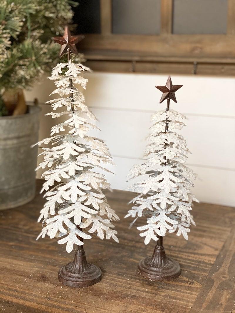 """Snowy Metal Tree 14"""""""