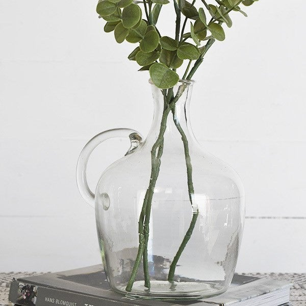 CLEAR GLASS FRENCH BOTTLE