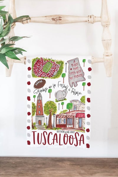 Tuscaloosa - Cutting Board/ Tea Towel Bundle