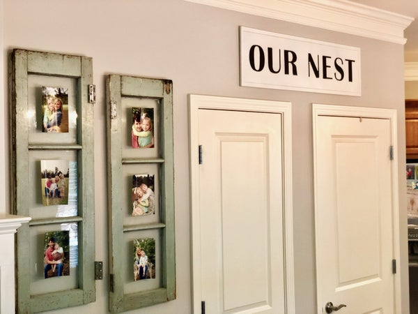 Embossed Our Nest Sign
