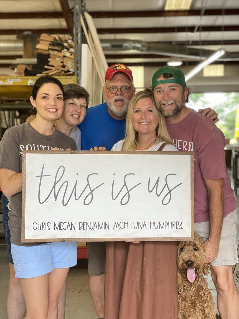 This Is Us Customizable Sign