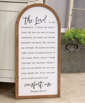 Psalm 23 Arch Sign