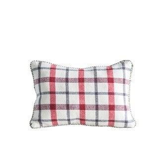 Rectangular Plaid Pillow