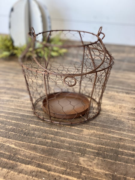 Chicken Wire Basket Lantern