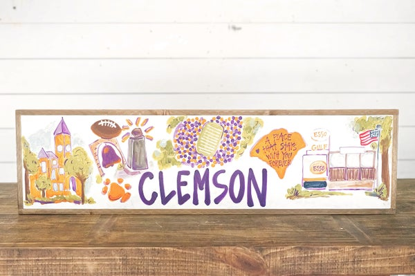 Clemson, SC College Town Sign