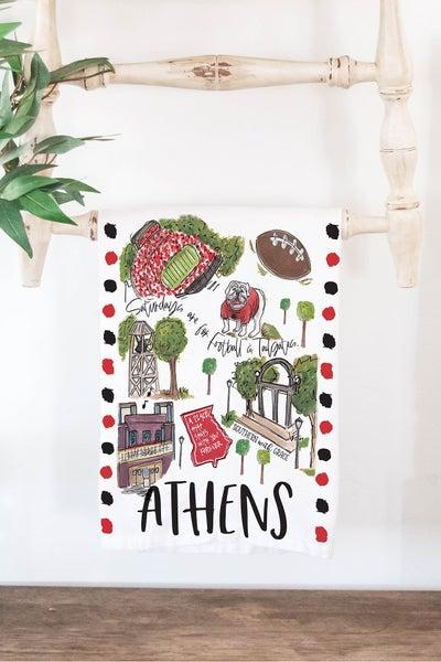 Athens  - Cutting Board/ Tea Towel Bundle