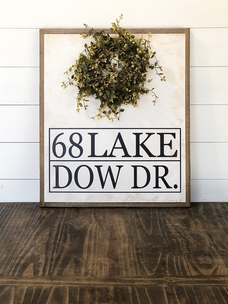 Custom Address Sign with Wreath