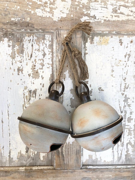 Rustic Metal Jingle Bells w/ Rope