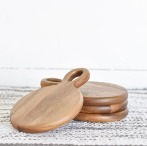Wood Tapas/Coaster, Set of 4