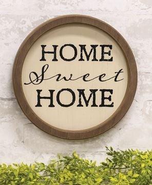 Circle Home Sweet Home Frame