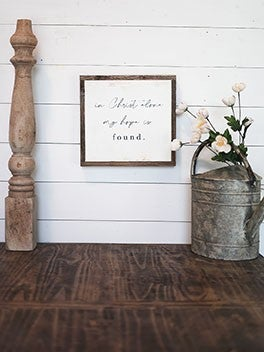 """In Christ Alone"" Framed Wood Sign"