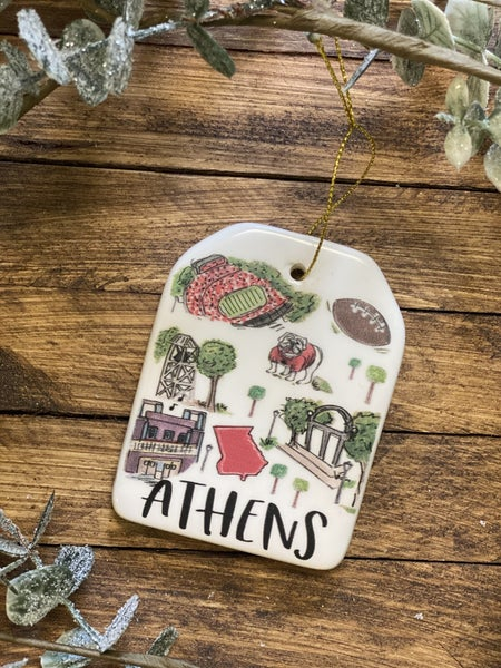 Athens Ceramic Ornament