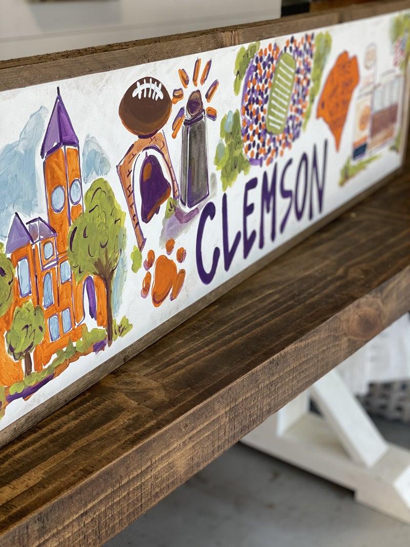 Clemson, SC College Town Sign