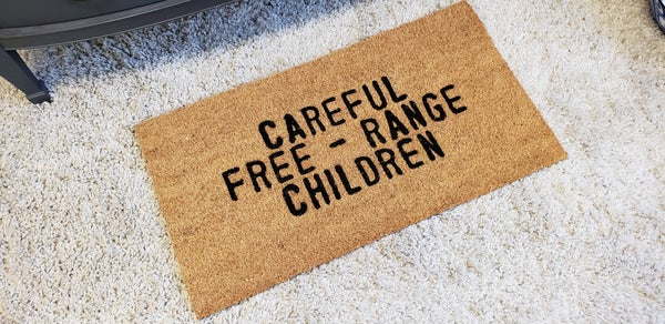 Careful Door Mat