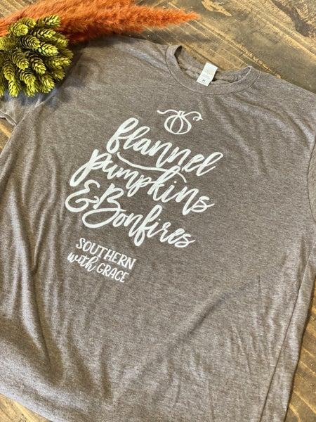 SWG FALL Tee Shirt-Flannel Pumpkins & Bonfires