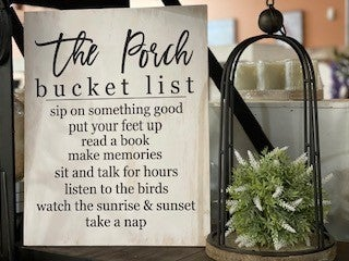 """""""The Porch""""  Wood Sign"""