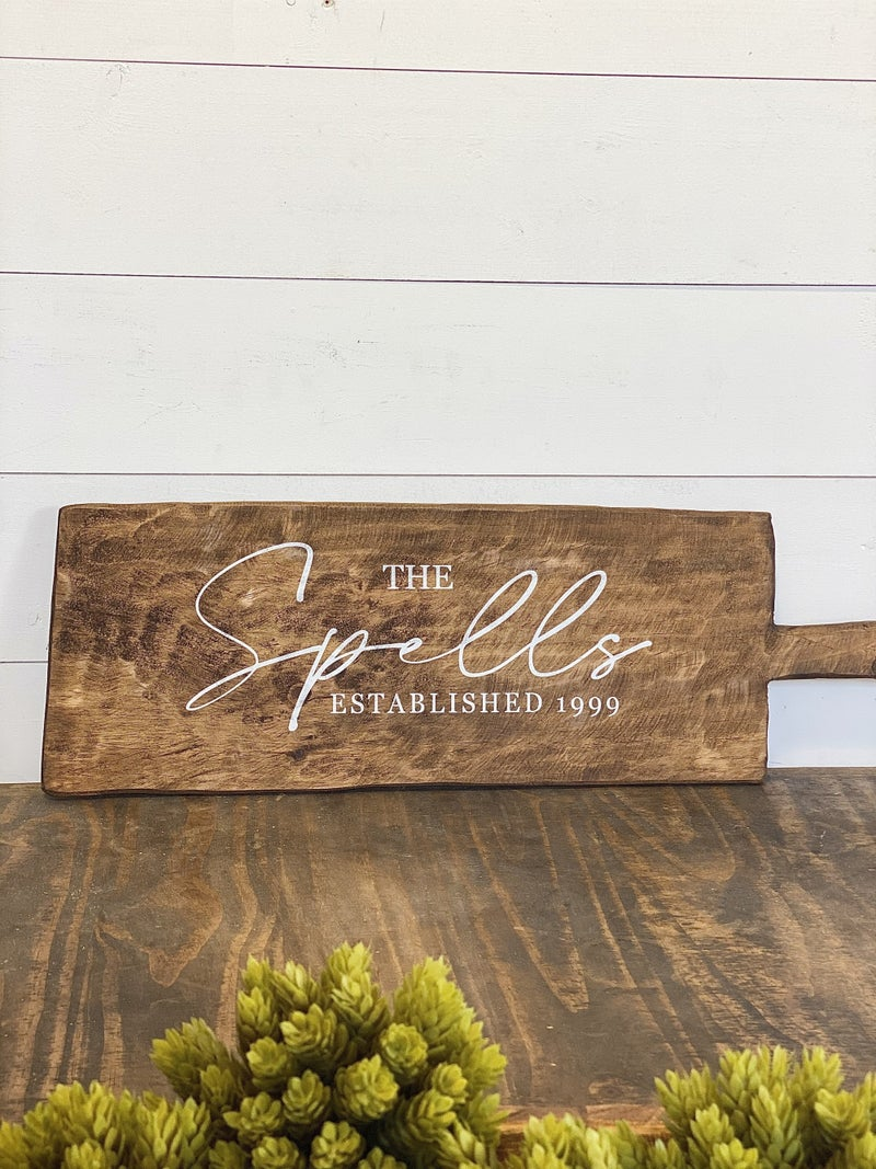 Personalized Long Cutting Board