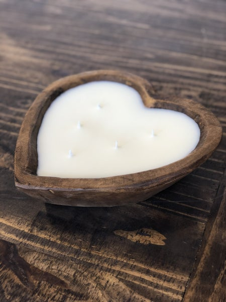 Large Heart Candle Bowl