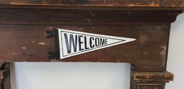 Enamel Welcome Pennant