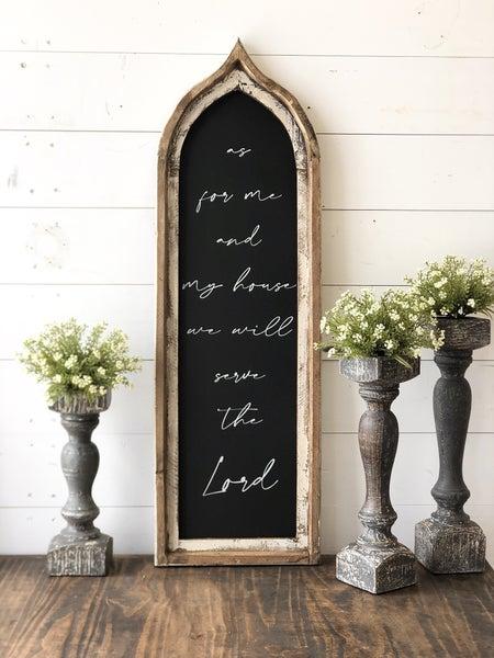 As For Me and My House Scripture Window