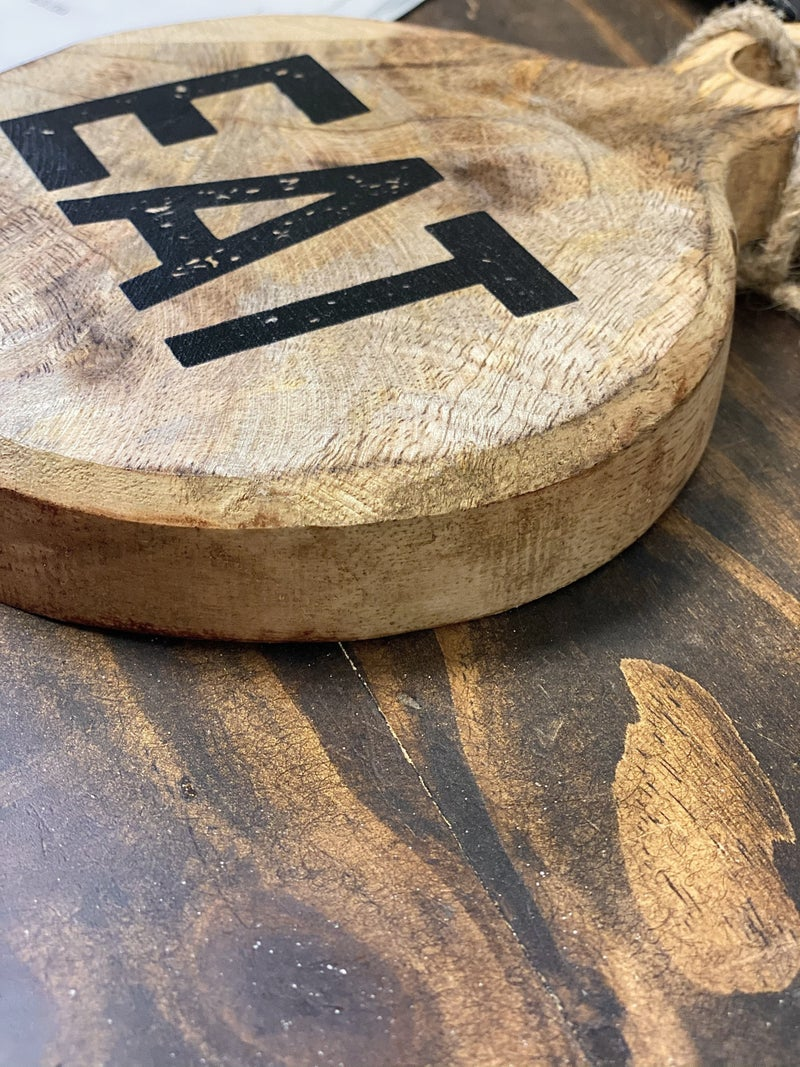 Round Wood Word Board
