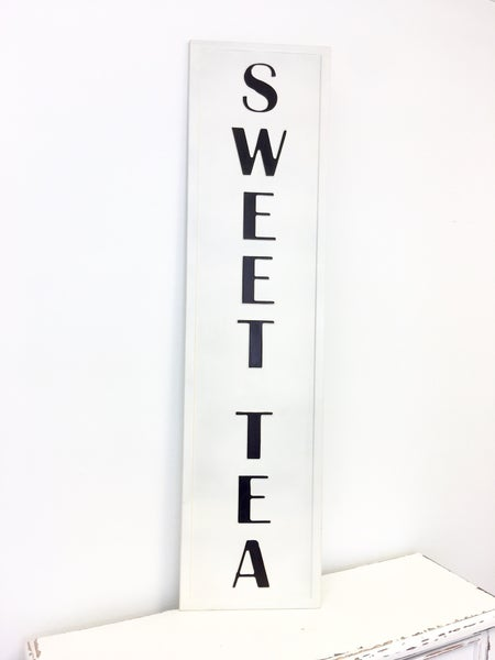Metal Embossed Sweet Tea Sign