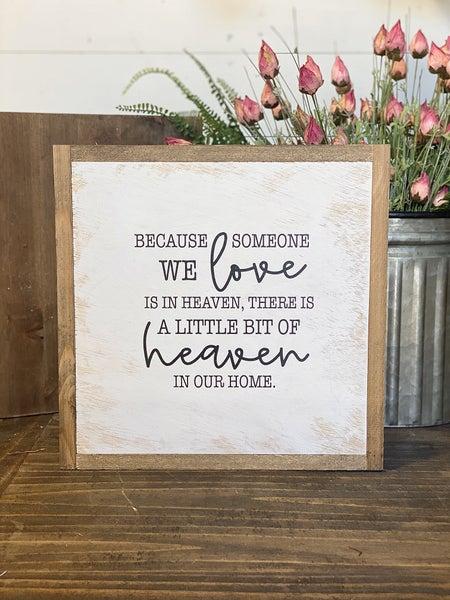 """""""Heaven"""" Framed Wood Sign"""
