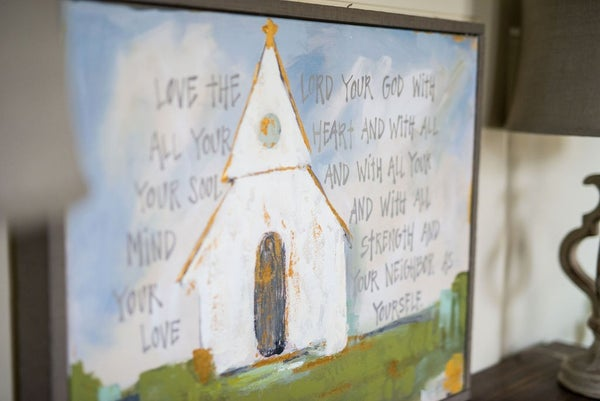 Church on a Hill Far Away Canvas