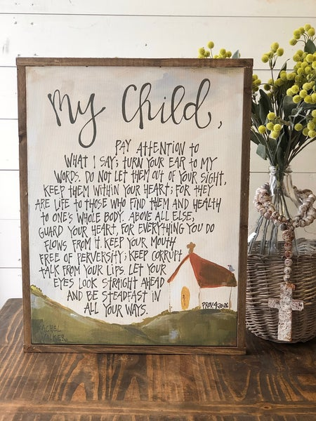 """My Child"" Framed Canvas"
