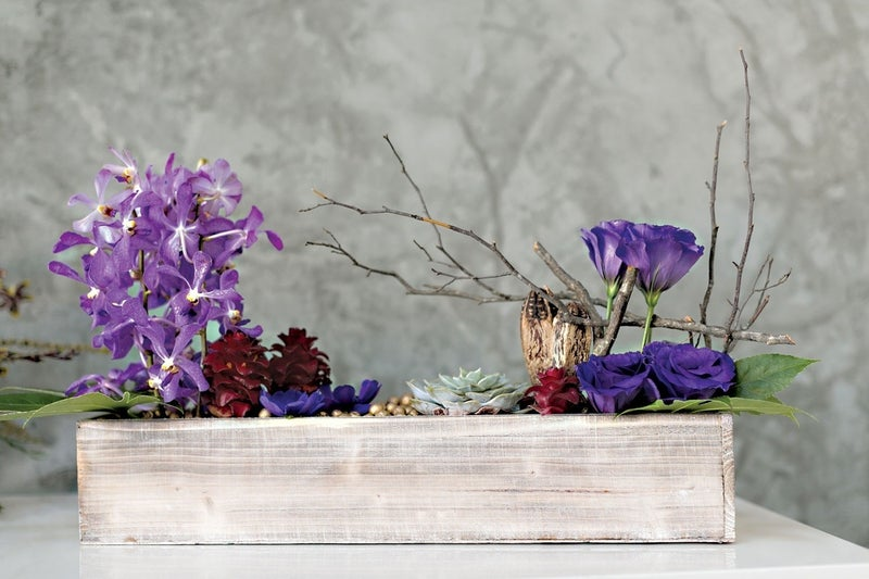 Woodland Whitewash Planter Box Medium