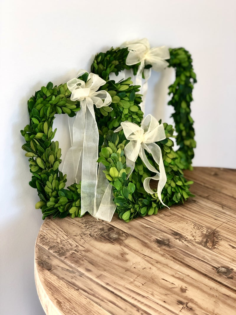 Square Boxwood (With Ribbon)