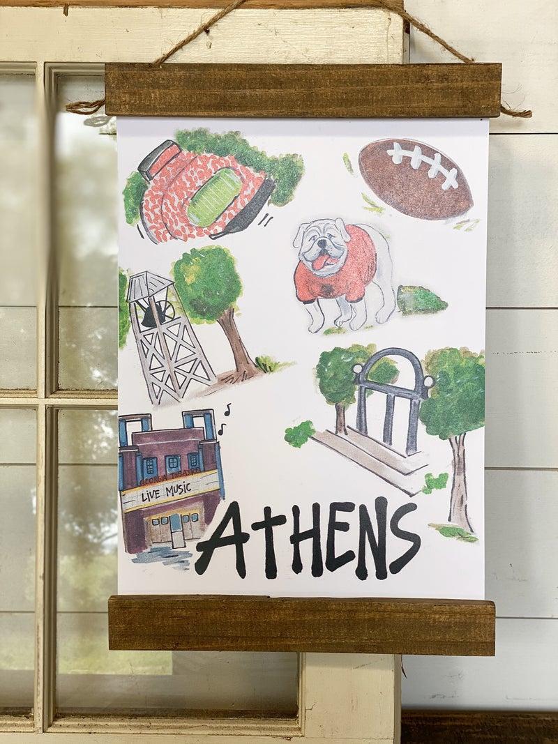 Athens, GA Wall Hanging