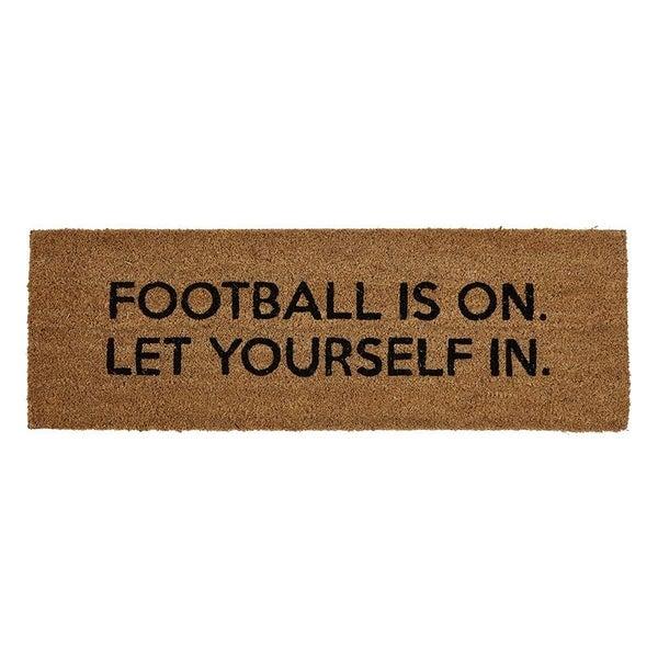 Football Is On Door Mat