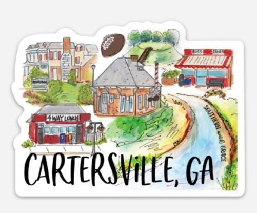 Cartersville Magnet and Sticker Combo