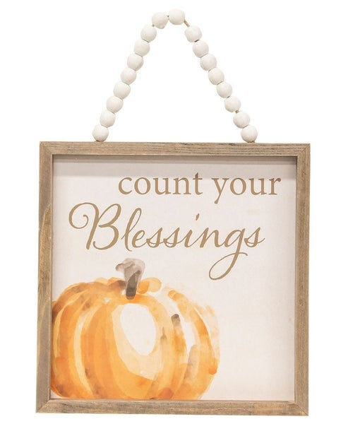 Count Your Blessing Beaded Sign