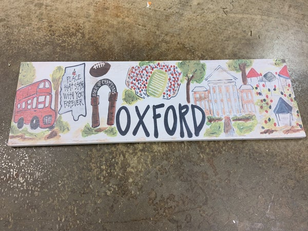 Small Oxford College Sign