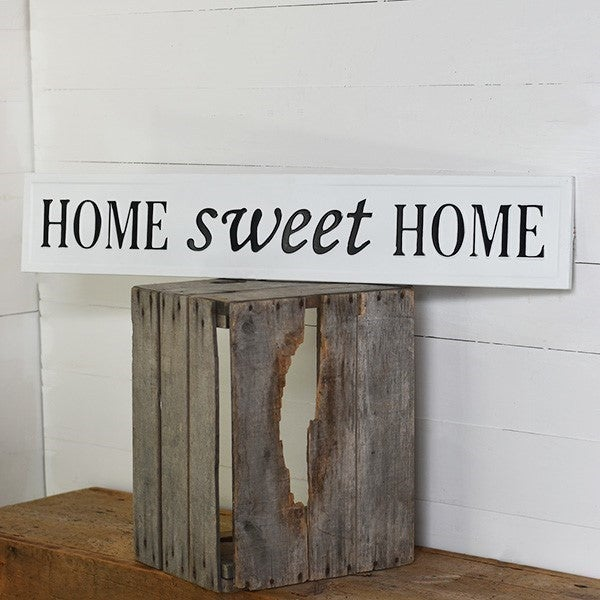EMBOSSED METAL HOME SWEET HOME SIGN