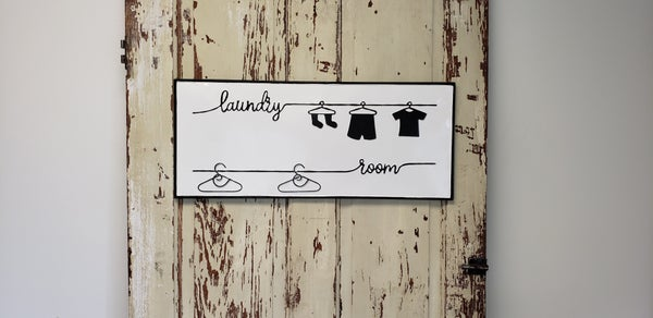Enamel Laundry Room Sign