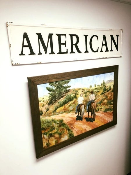 Embossed American Sign