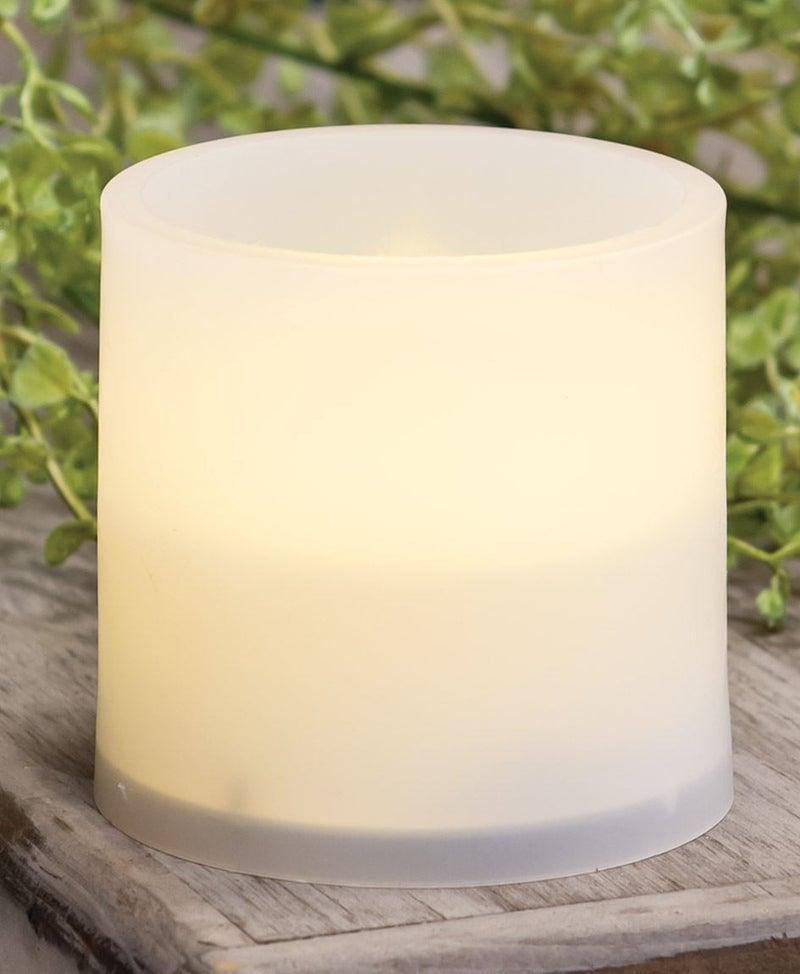 Warm Light White 3x3 Pillar, set of 2