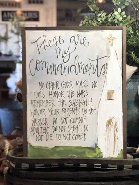 Ten Commandments Canvas