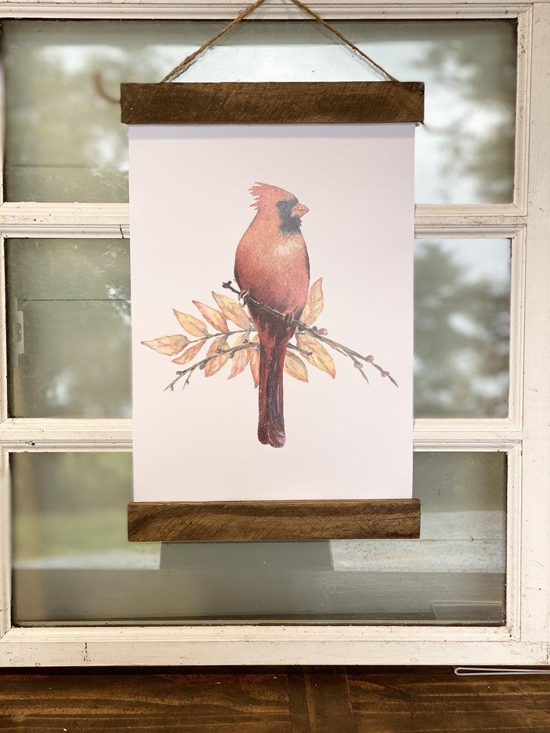 Cardinal Bird Wall Hanging