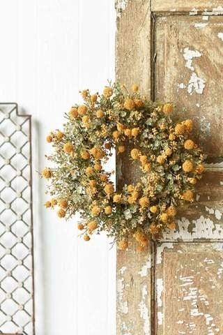 Fall Garden Wreath - Mustard